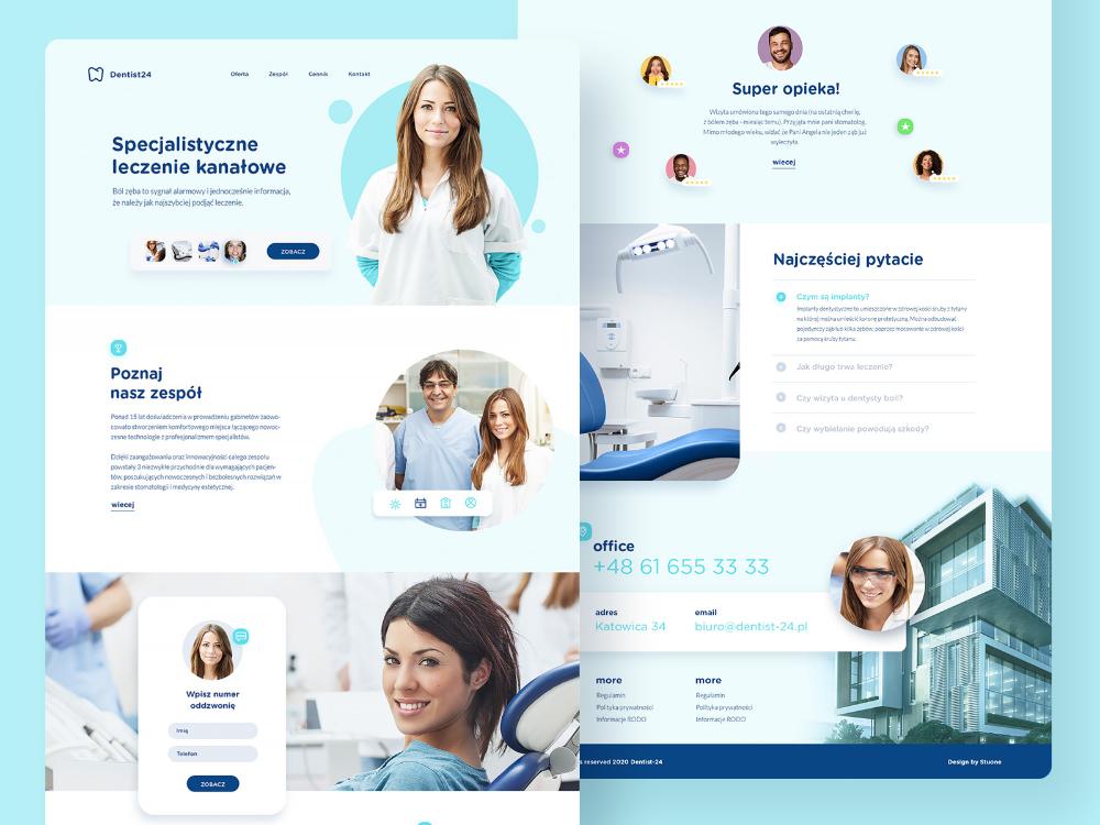Dentist24 Webdesign For Polish Dentist Company In 2020 Web Design Dentist Dentist Website