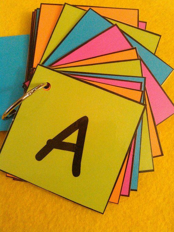 Alphabet Flash Cards Laminated Ring Alphabet by