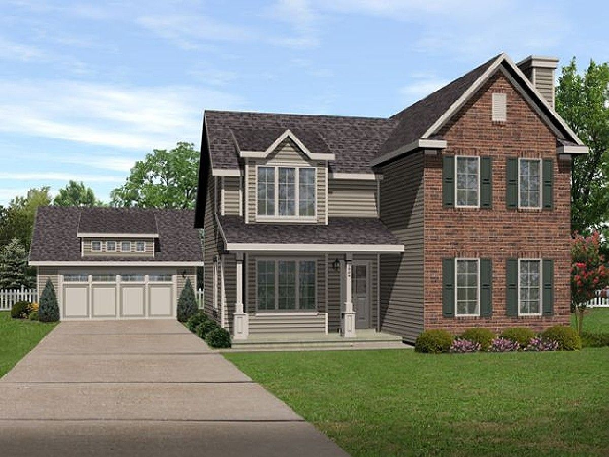 Plan 22094SL Detached Garage Included Ranch style house