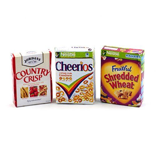1:12 Scale Selection Of 11 Cereal Boxes Dolls House Miniature Food Accessory
