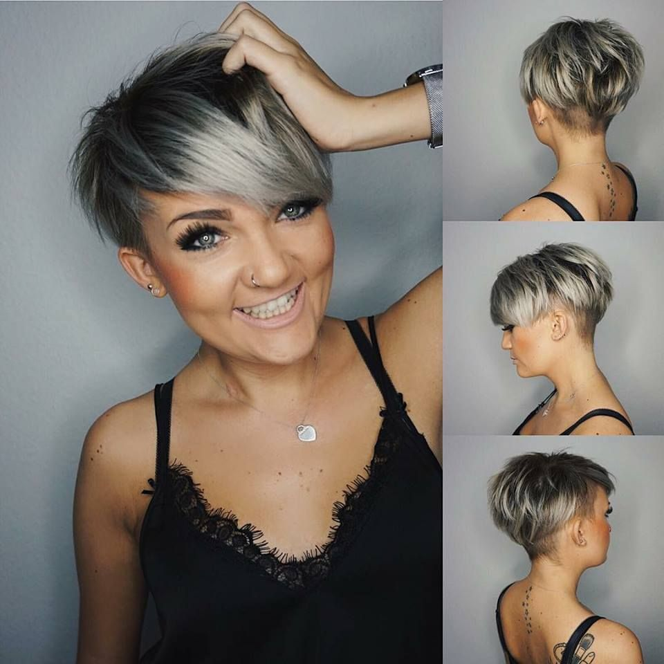 14 x super trendy grau frisuren kurzhaarfrisuren frauen frisuren pinterest graue - Frisuren pinterest ...