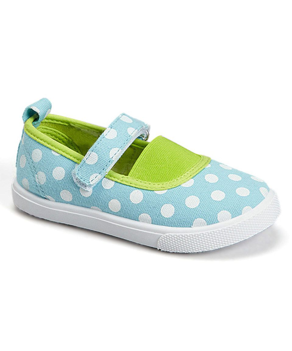 This Turquoise Polka Dots Mary Jane by Chatties is perfect! #zulilyfinds
