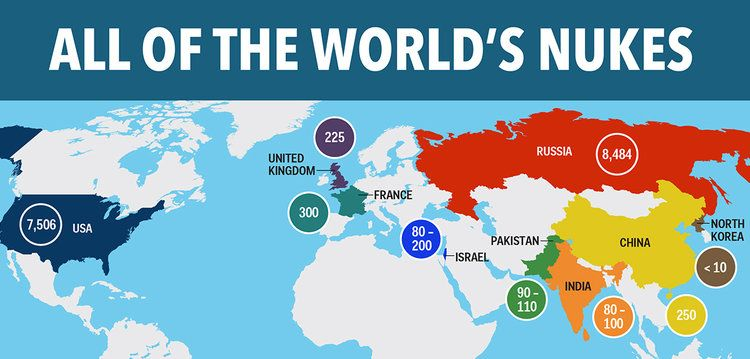 Number of nukes per country world map 2014 maps pinterest number of nukes per country world map 2014 gumiabroncs Image collections
