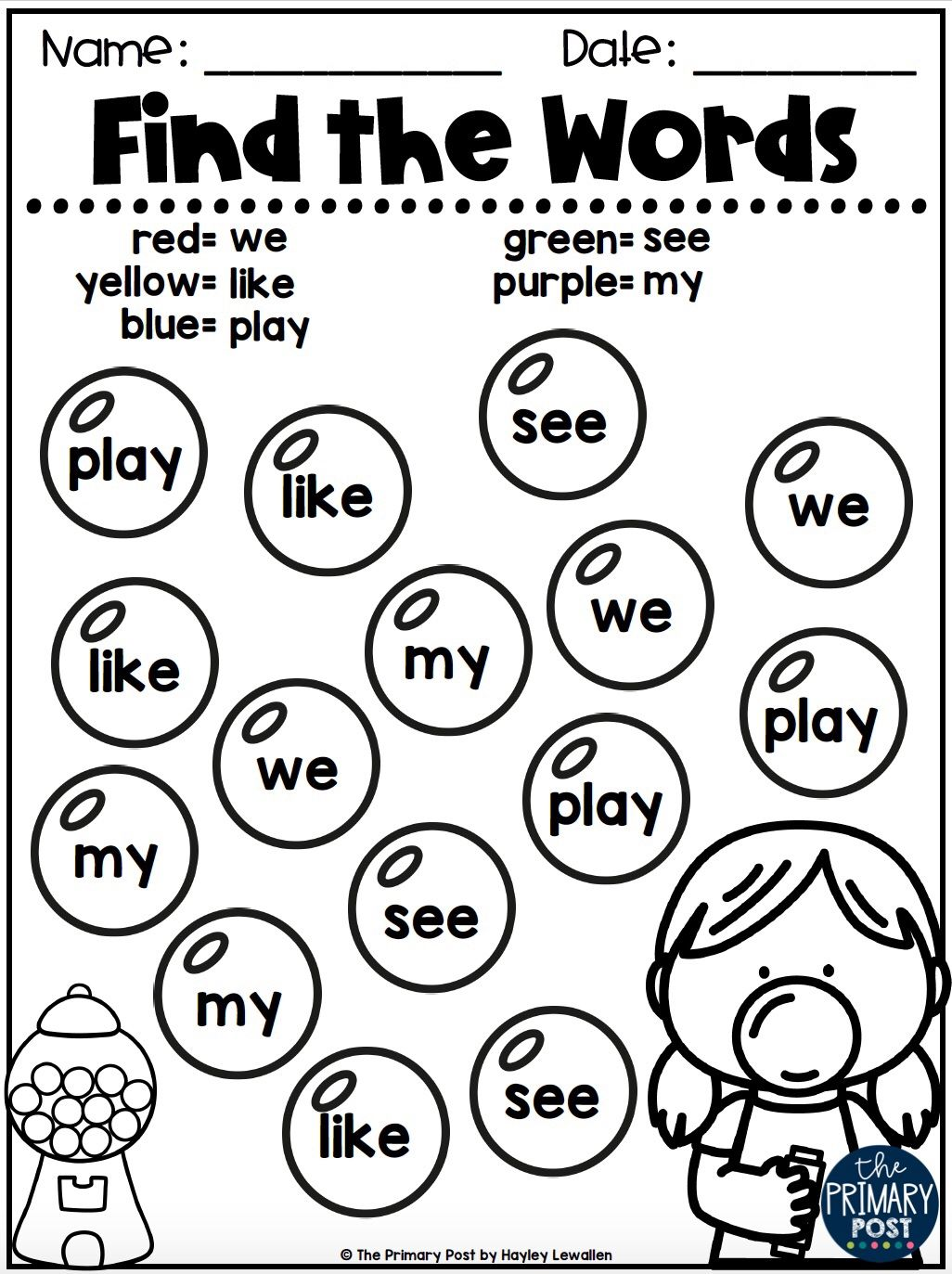 Editable Sight Word Activities
