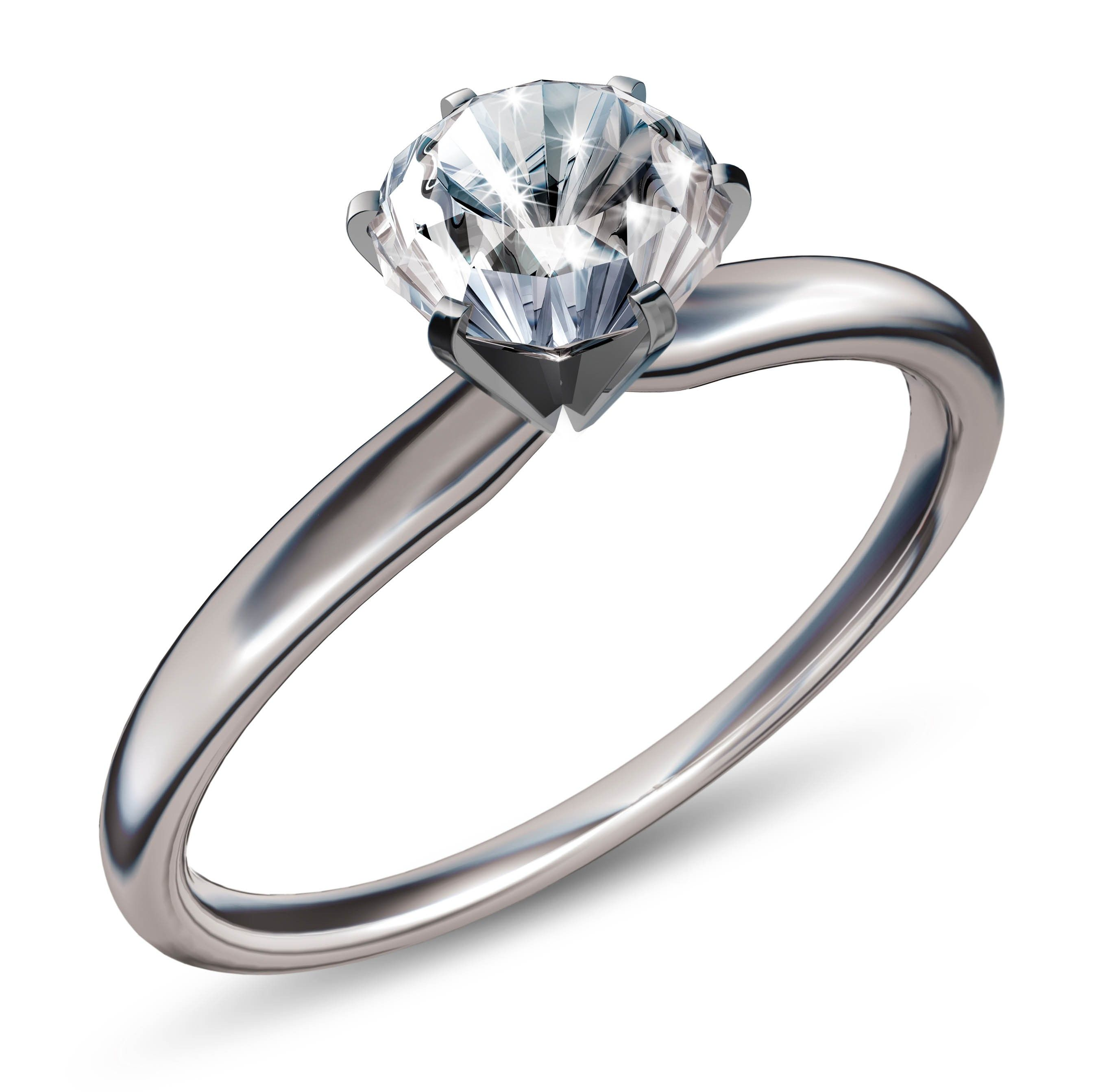 platinum engagement ring vs wedding ring - Solitaire Wedding Rings