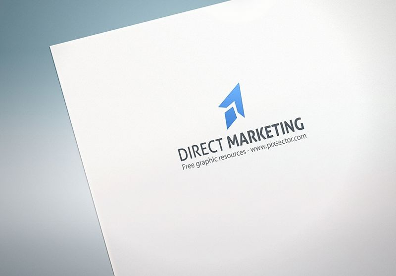 Download Free Paper Logo Mockup Pixsector Free Vector Images Mockups Psds And Photos Free Logo Mockup Paper Logo Logo Mockup