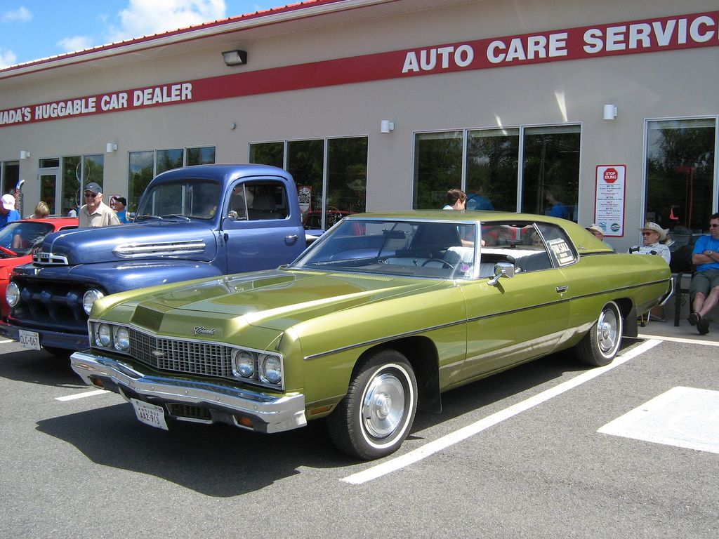 1973 chevrolet impala custom coupe in green gold metallic