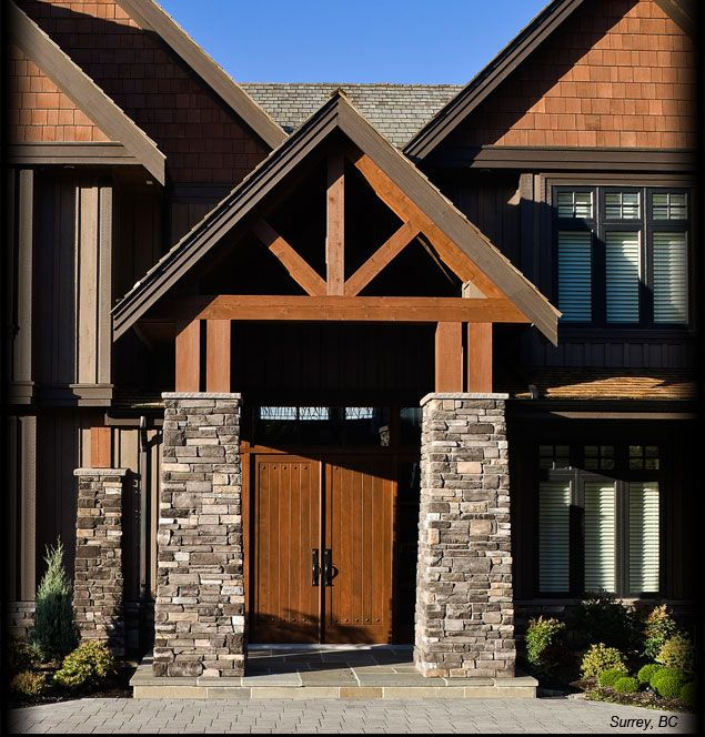 Cultured stone black rundle country ledgestone columns for Exterior ledgestone