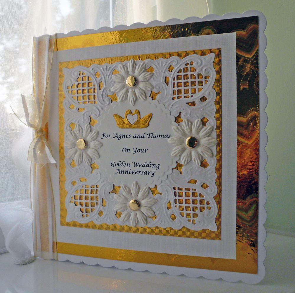 Bellasandra's Crafts Engagement cards, Crafts, Golden