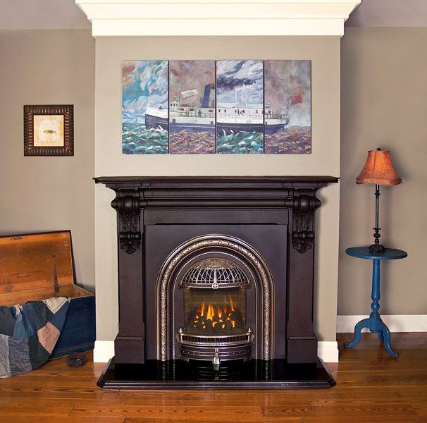 Pine painted Victorian fire surround | Fireplace | Pinterest ...
