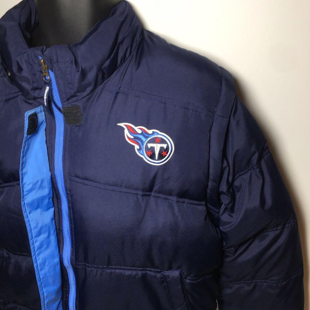 pretty nice 3ba74 354ad Tennessee Titan Reebok Hooded NFL Football Winter Parka Coat ...