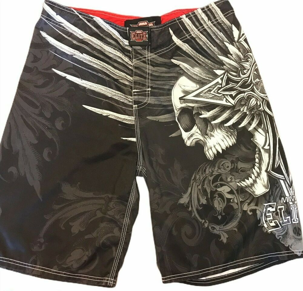 Mma Elite Men S Medium Board Shorts Swim Trunks Skulls Ebay In 2020 Board Shorts Swim Trunks Swim Shorts