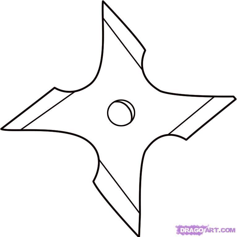 how to draw a ninja star step 4 | Nick\'s LEGO Ninjago Party ...