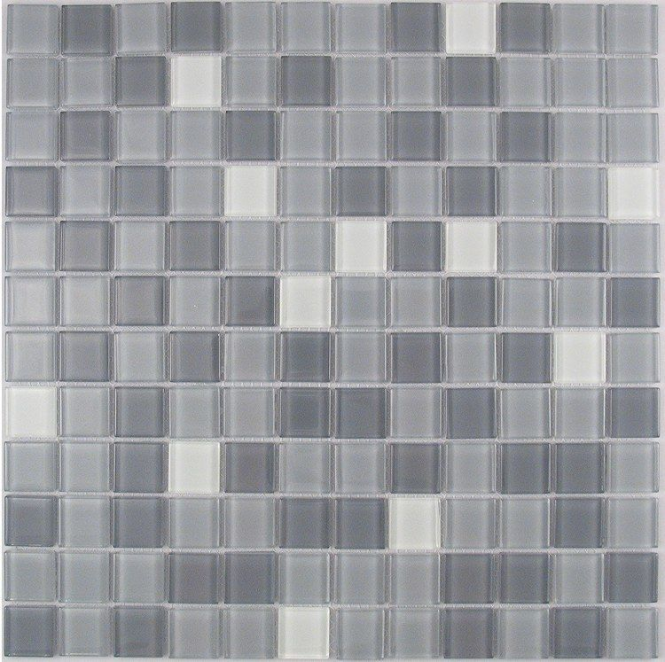 Gray Mix Mosaic Tile For Bathroom Kitchen Backsplash Nerino 6 99 Per Sheet 12x12 Glass Mosaic Tiles Mosaic Glass Tiles