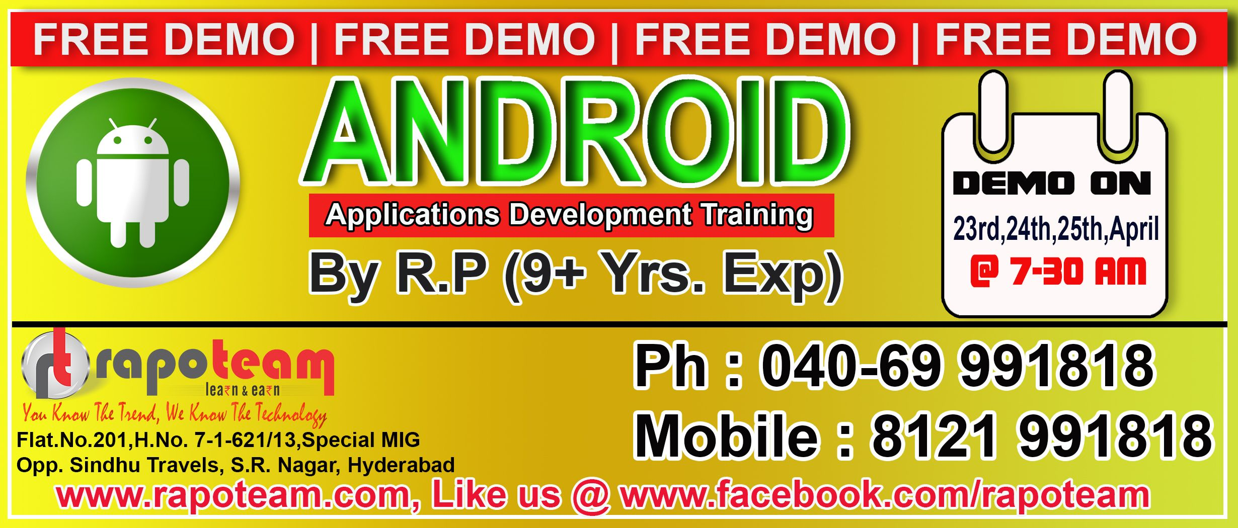 the mobile app development training course is composed of the following training modules 1 ios app development 2 android app development rapoteam