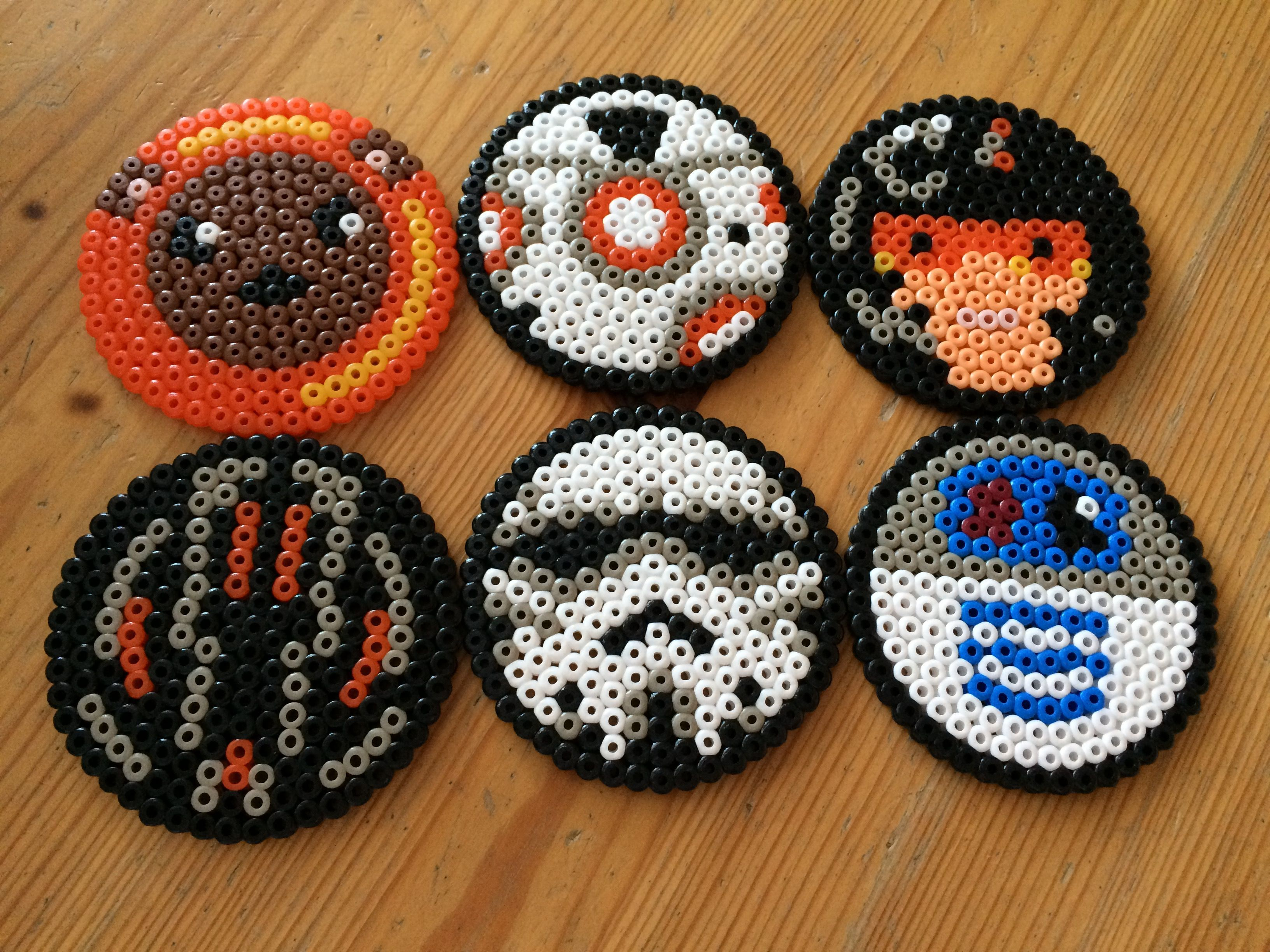 R2 D2 And Bb 8 Coaster Perler Hama Beads Beadsmeetgeeks
