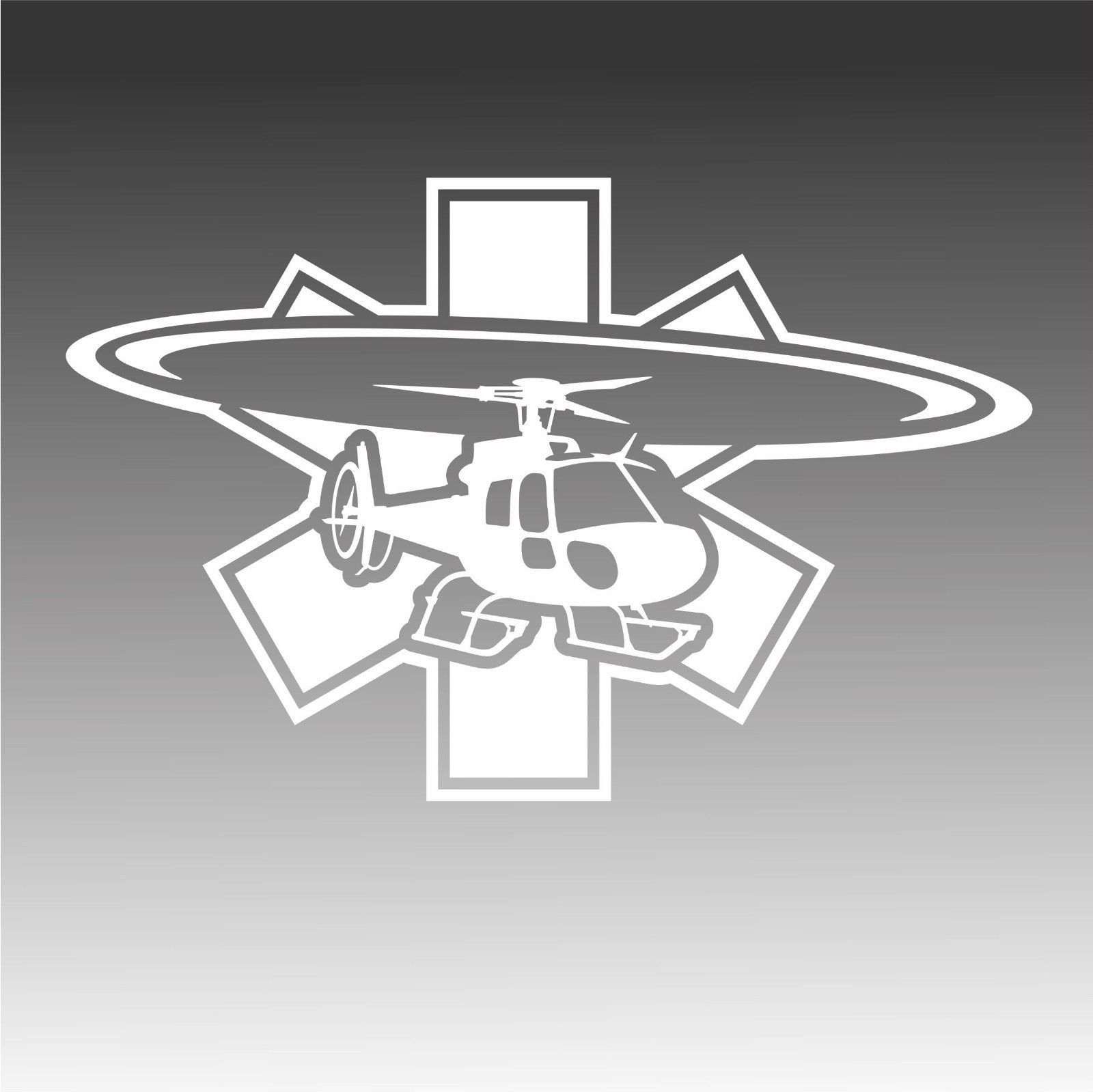 Star Of Life Astar As350 Sticker Medic Ems Star As 350 Crew Decal B [ 1599 x 1600 Pixel ]
