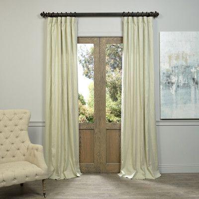 """Darby Home Co Orlando Linen Semi-Opaque Single Curtain Panel Color: Khaki, Size: 50"""" W x 108"""" L"""