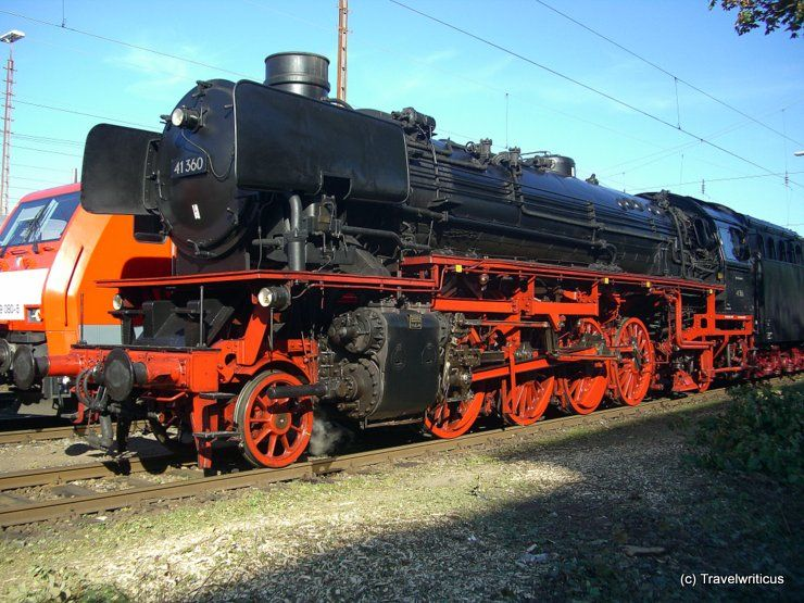 Steam locomotive 41.360 in Fürth, Germany :: Travel by Photography