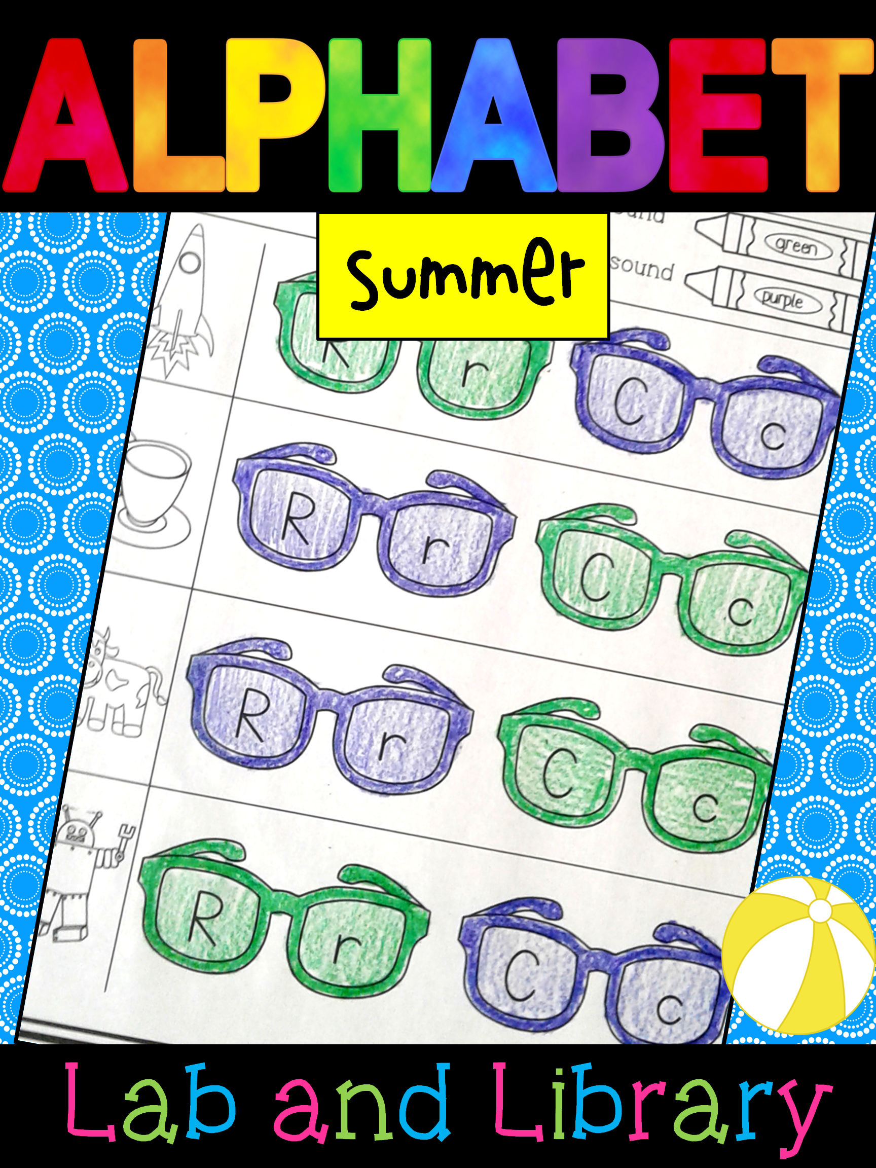 Summer Alphabet Review Find And Color Printables