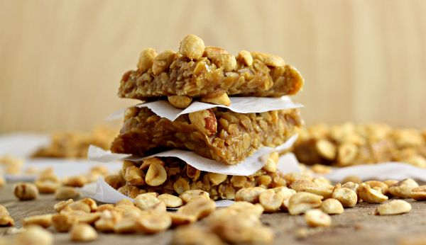 Pumpkin Peanut Butter Oatmeal Bars - Wanna Bite