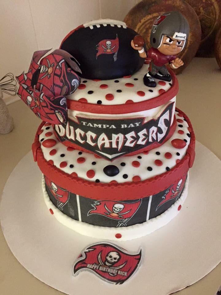 Tampa Bay Buccaneers Cake Tampa Bay Buccaneers Football Nfl Cake Tampa Bay Buccaneers