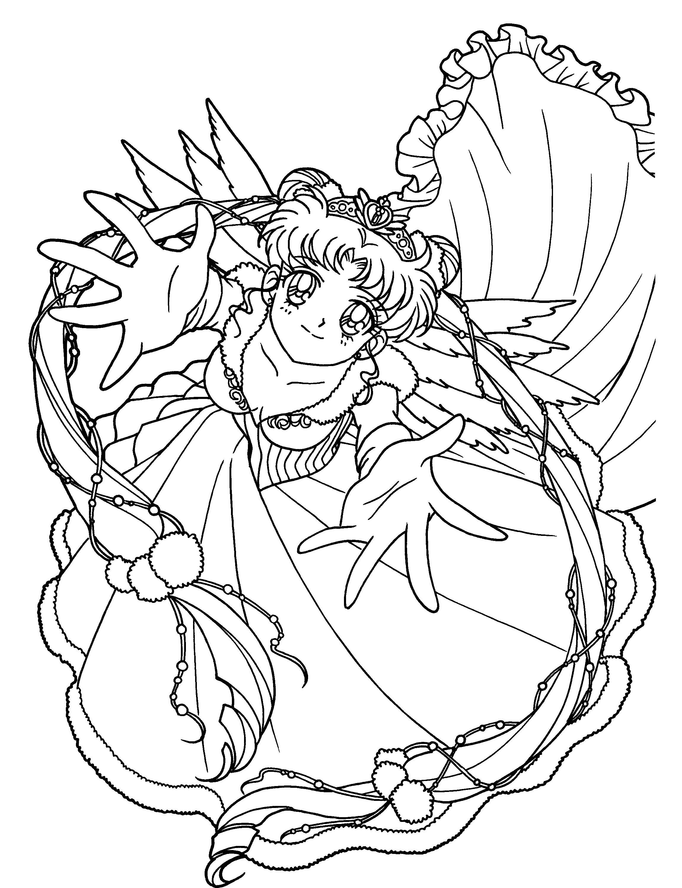 Princess serenity coloring pages - Sailor Moon Coloring Pages Online