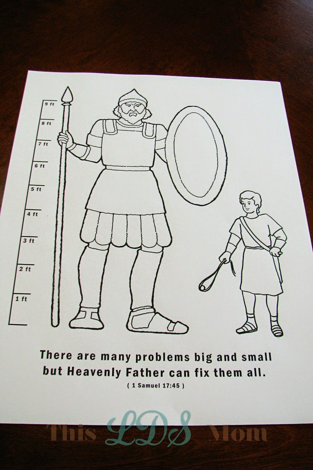 29 Fresh David And Goliath Coloring Pages In