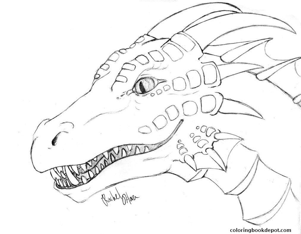 1482947830dragon-face-coloring-pages.jpg (1013×788) | Dragons ...