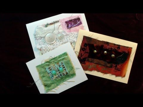 How To Make Fabric Collage Cards