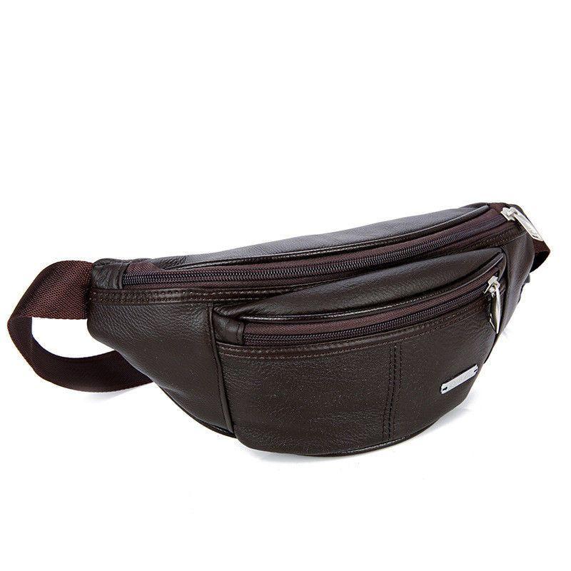 2dcd92e4182 Men's Real Leather Waist Bag Bum Hip Loop Belt Purse Pouch Travel ...