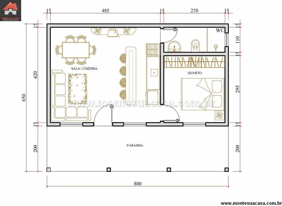 Top Casa 1 Quartos - 52m² … | Pinteres… RP13