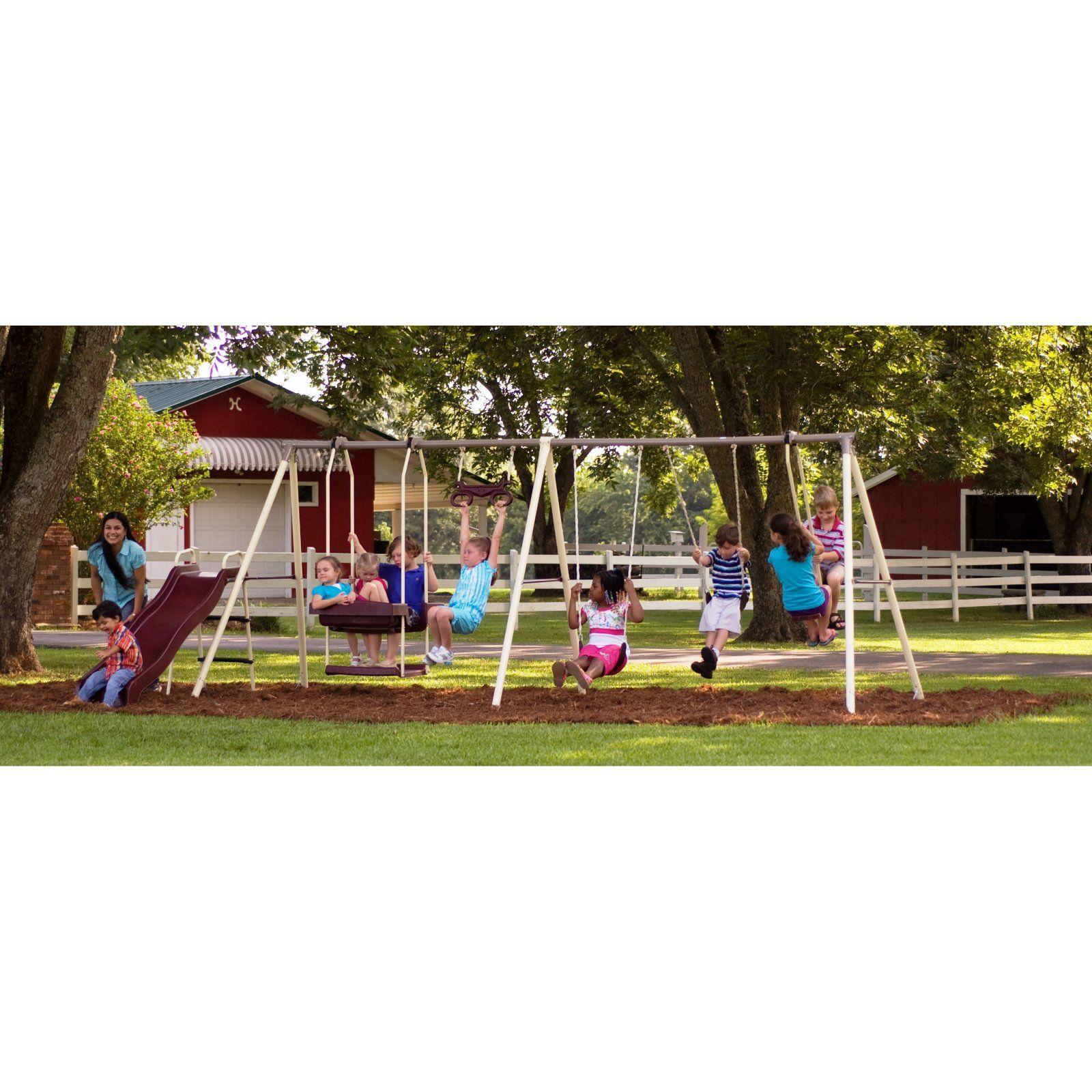 Flexible Flyer Play Park Swing Sets Pinterest Metal Swing Sets