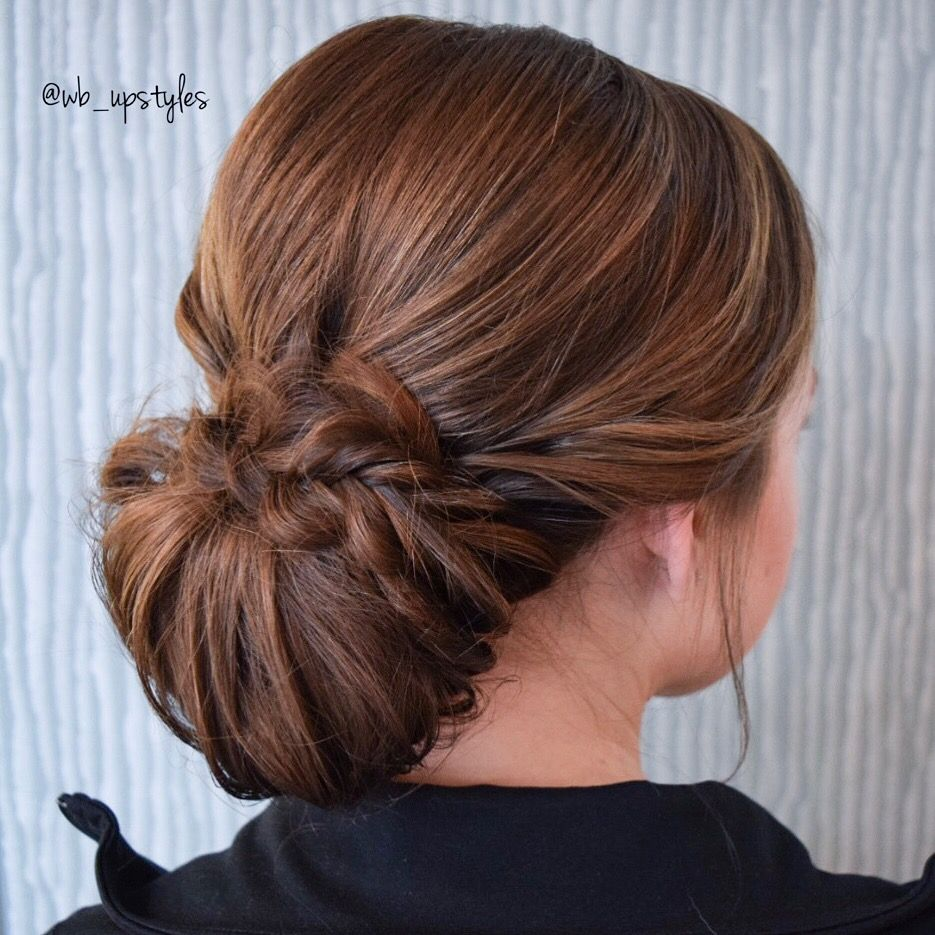 Low chignon updo  Wedding Hairstyles  Ball  hairstyles