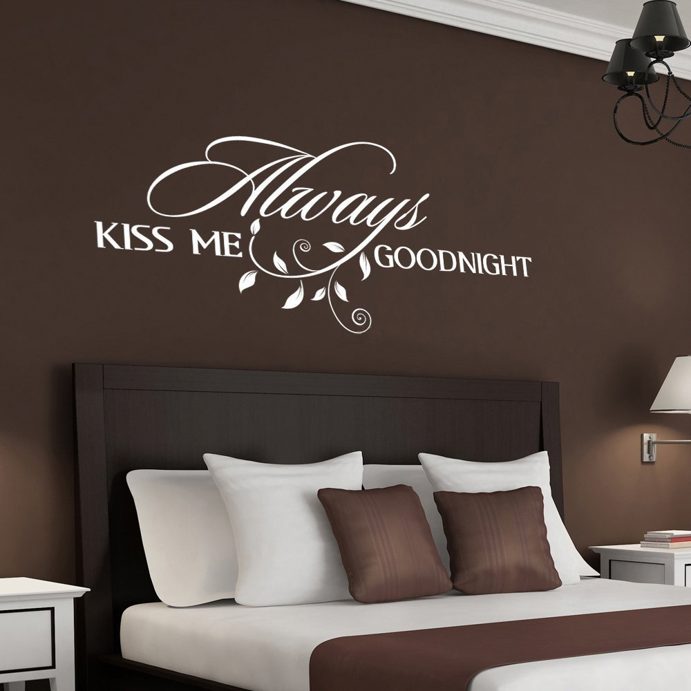Best Always Kiss Me Goodnight Wall Decal Bedroom Decor For 400 x 300
