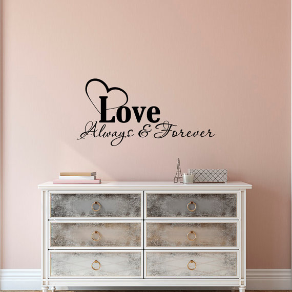love wall decal quote- family wall decal quotes love always and