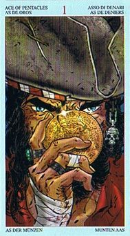 TAROT OF THE PIRATES - Ace of Pentacles