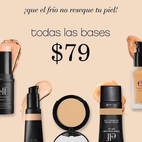 297b22dcc356 Nuestras bases Studio a  79.00 pesos!  No incluye el Maquillaje Anti ...