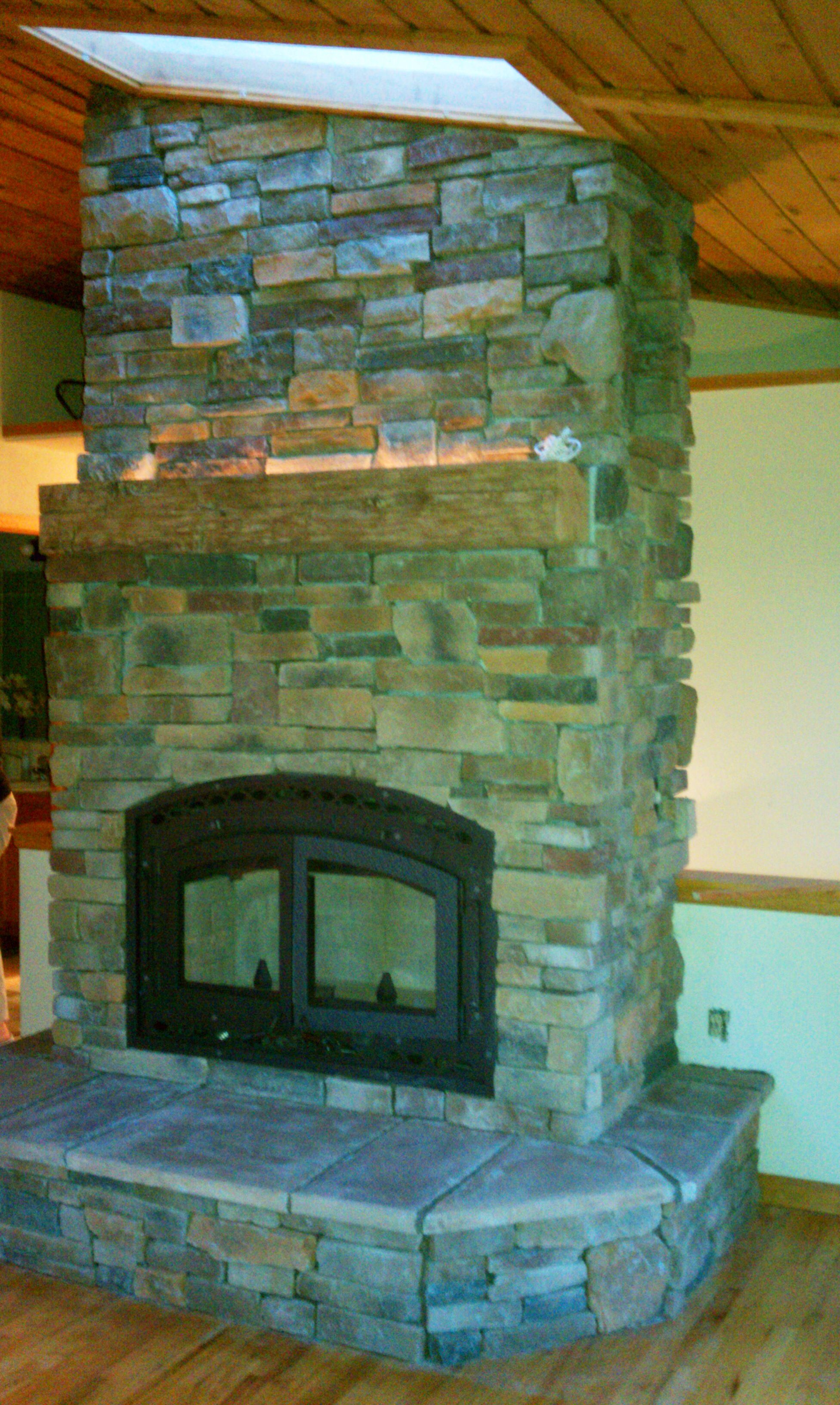 Bis Tradition Wood Fireplace Complete Custom Fireplace, Mantle And Finish
