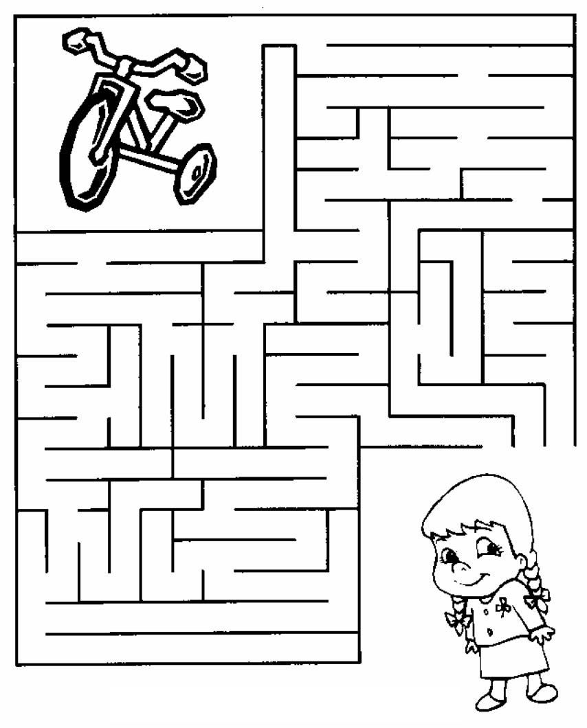 maze coloring pictures for kids - Maze Coloring Pages