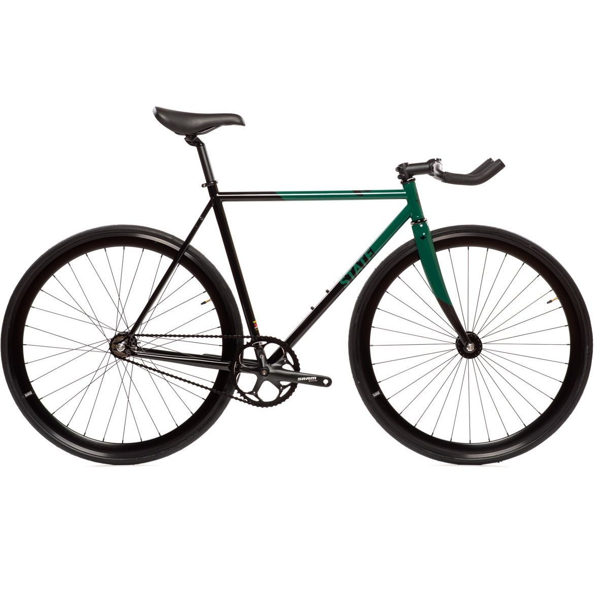 State Bicycle Co. Contender II   Green Chromoly Fixed Gear Track Bike