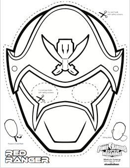 photograph relating to Power Ranger Mask Printable named Tremendous MEGA Ability Rangers Printable - Coloring Masks