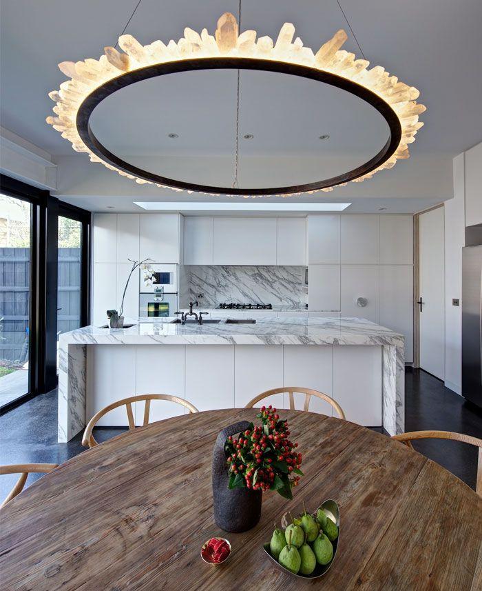 Bright Living Space Modern Lighting Pinterest Chandeliers - Quartz chandelier crystals