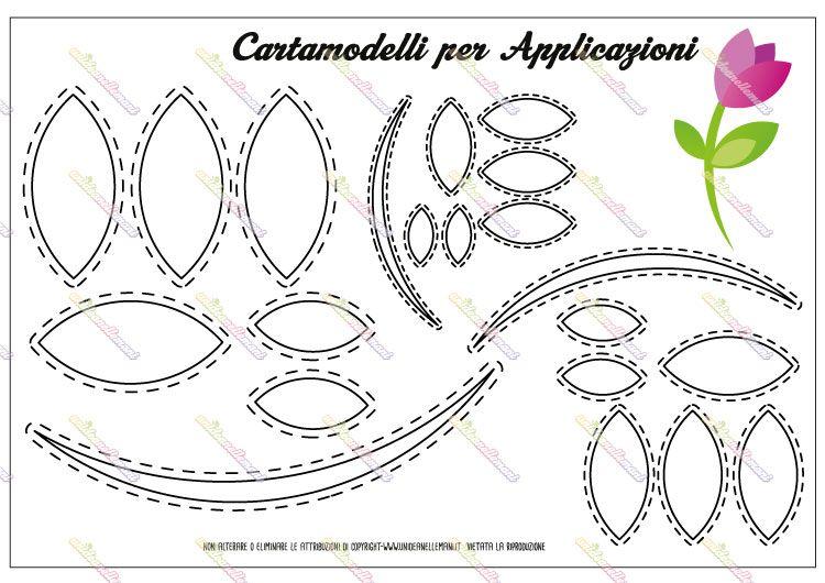 Cartamodello Sagoma Di Fiore A 3 Petali Per Lavoretti Creativi