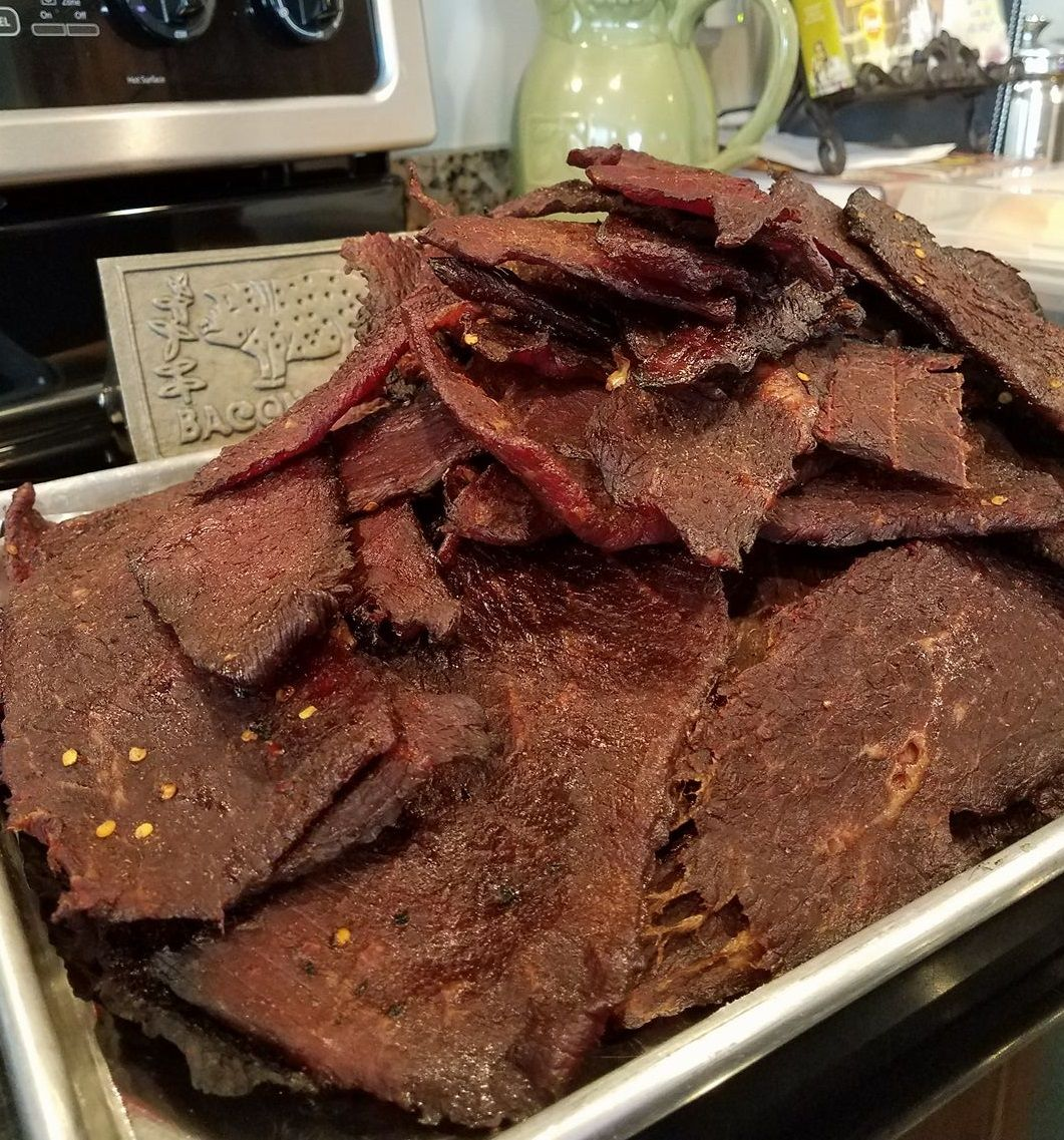 Caytlin S Beef Jerky Recipe Hickory Smoked Marinade Allegro Marinade Recipe Beef Jerky Recipes Jerky Recipes Beef Jerky