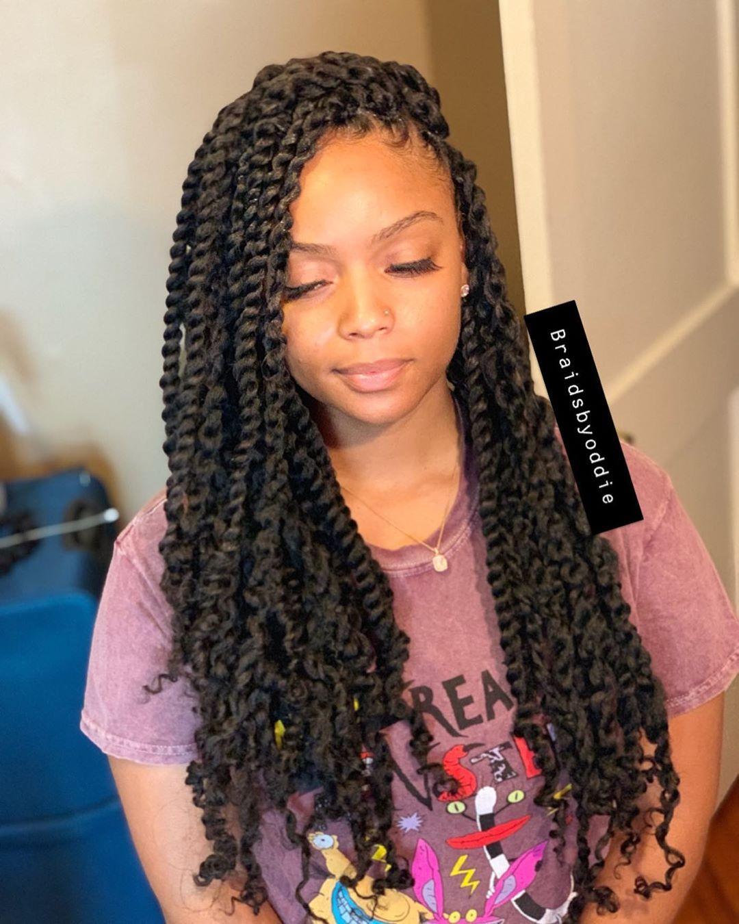 "Specializing In ALL Faux locs on Instagram: ""Passion Twist �� #ncat #uncg #wssu #nccu #braids #goddesslocs #goddesslocsnc #fauxlocs #greensboro #hair #greensborobraider #jcsu…"""