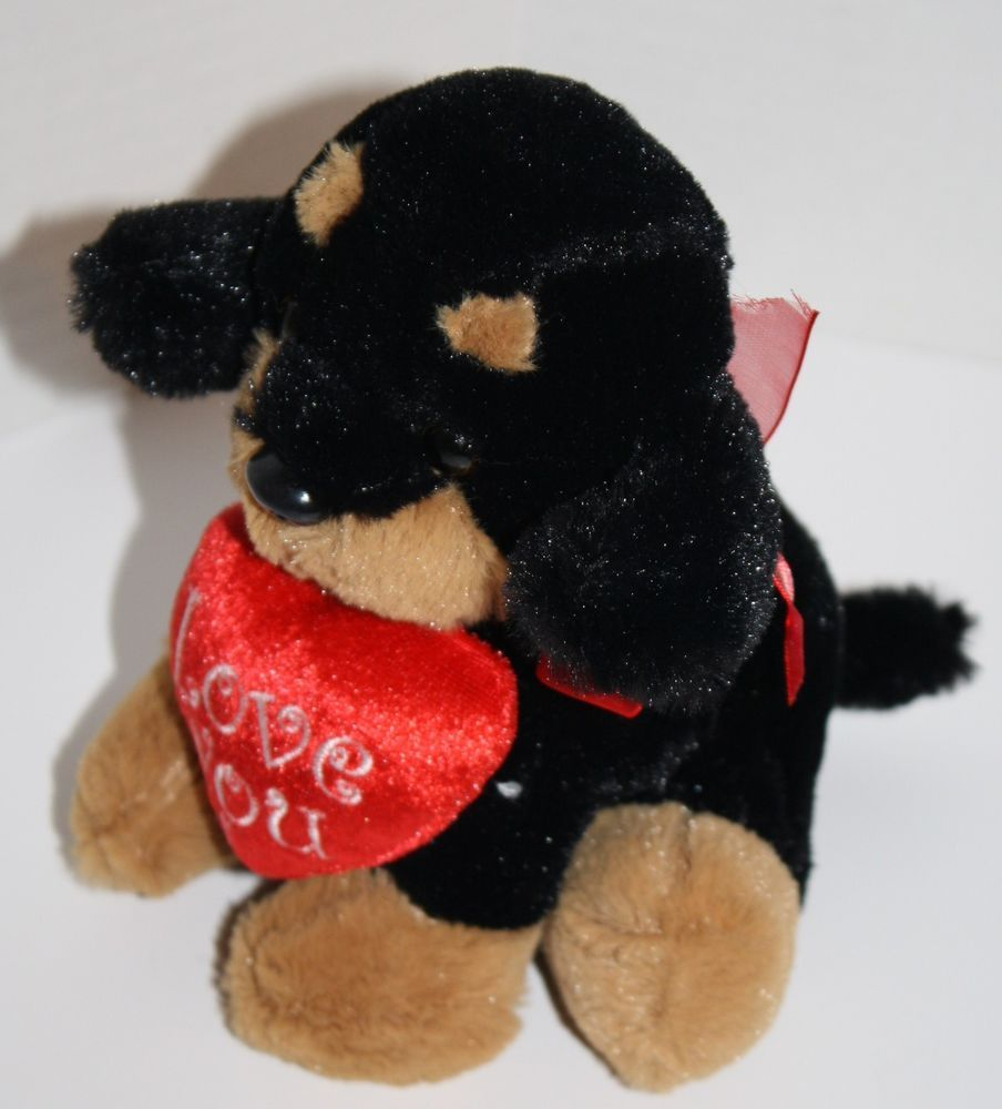 Toms Toys Int L Plush Rottweiler Dog Black Tan Love You Red Heart Bow 7 Soft Tomstoysinternational Baby Plush Rottweiler Dog Toys [ 1000 x 904 Pixel ]