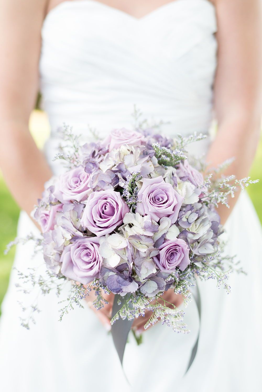 A Chord Of Three Strands Purple Wedding Bouquets Flower Bouquet