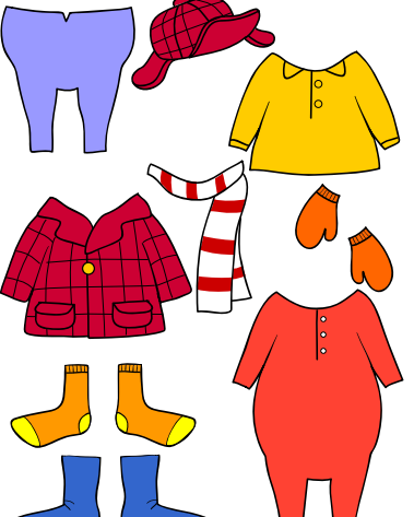 Froggy se viste clothing materials in spanish spanish for Froggy gets dressed template