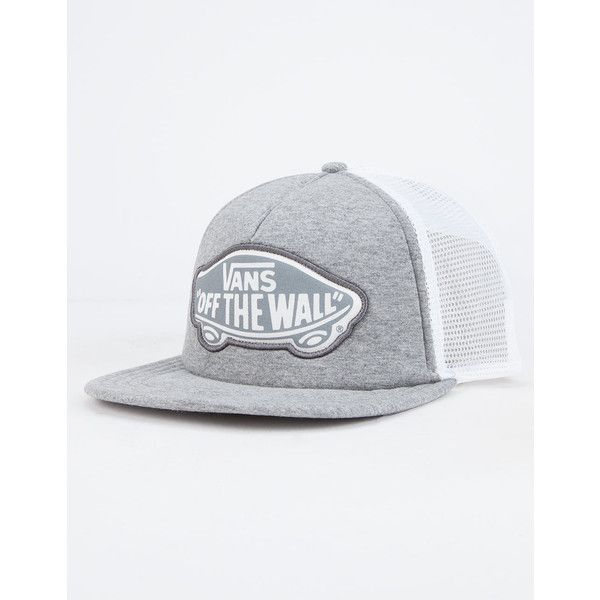 a7f2f222e2 Vans Beach Girl Womens Trucker Hat ($20) ❤ liked on Polyvore featuring  accessories, hats, light grey, snap back hats, mesh back hats, logo trucker  hats, ...